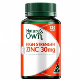 Natures Own High Strength Zinc 30mg 120 Tablets