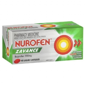 Nurofen Zavance Liquid Capsules Pain Relief 200mg 40 Pack