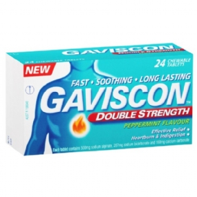 Gaviscon Double Strength Peppermint Tablets 24