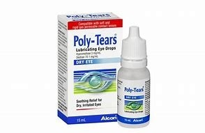 Poly-Tears Lubricating Eye Drops 15mL
