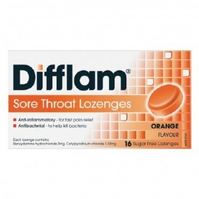 Difflam 16 Lozenges Orange