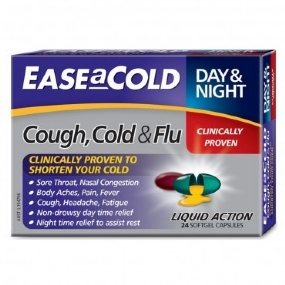 Ease a Cold Cough Cold & Flu Day & Night 24 Capsules