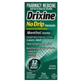 Drixine No Drip Menthol Nasal Spray 15mL