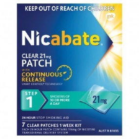 Nicabate CQ Clear Patches 21mg 7 Patches