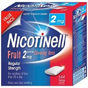 Nicotinell Fruit Chewing Gum 2mg 144 Pieces