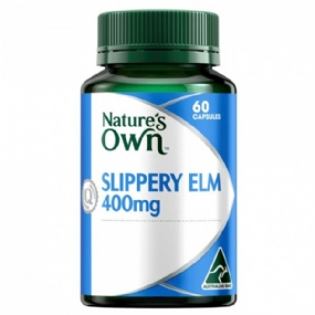 Nature's Own Slippery Elm 400mg 60 Capsules