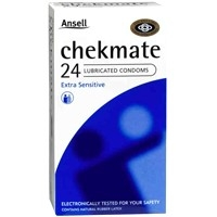 Ansell Chekmate 24 Lubricated Condoms