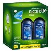 Nicorette Cooldrops Lozenges Extra Strength Icy Mint 4mg 160